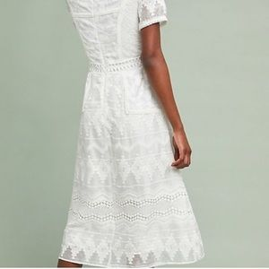 Anthro lace midi dress